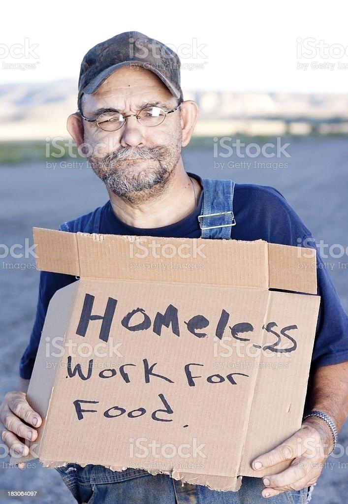 Homeless American Man royalty-free stock photo