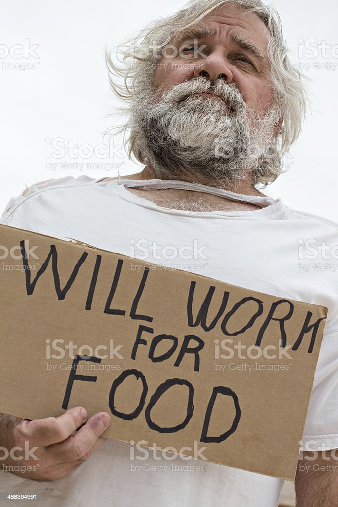 Homeless and Raggedy stock photo