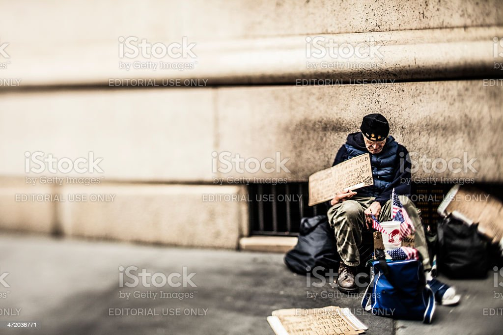 Homeless And Veteran stock photo