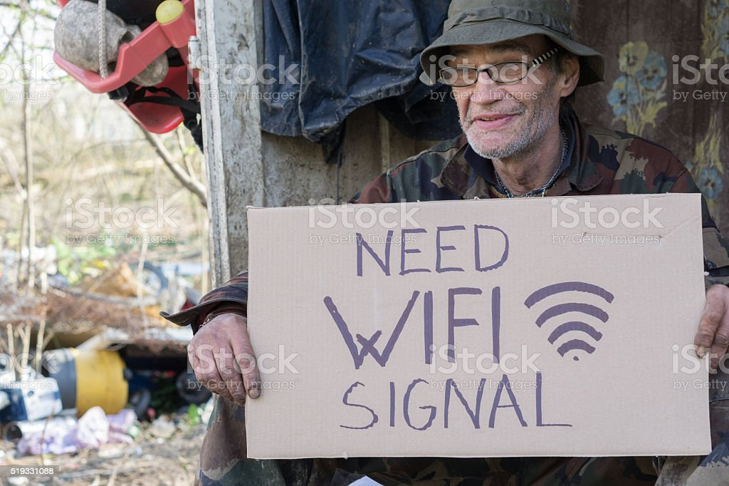 homeless big trouble stock photo