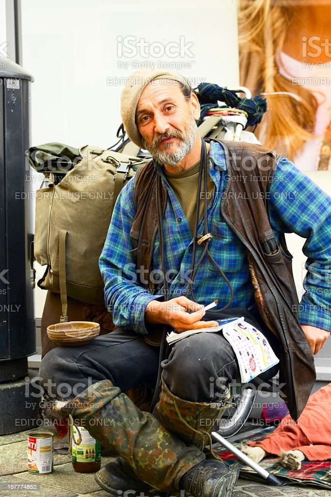 Homeless but free stock photo