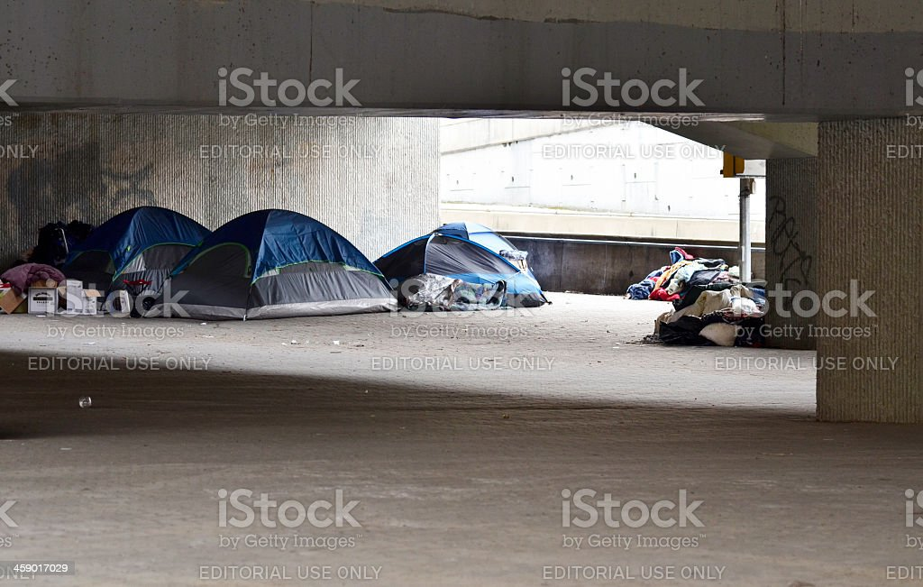 Homeless Communithy stock photo