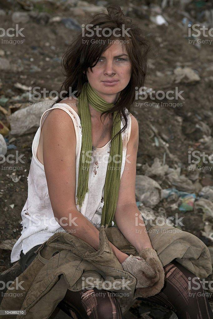 Homeless girl. royalty-free stock photo