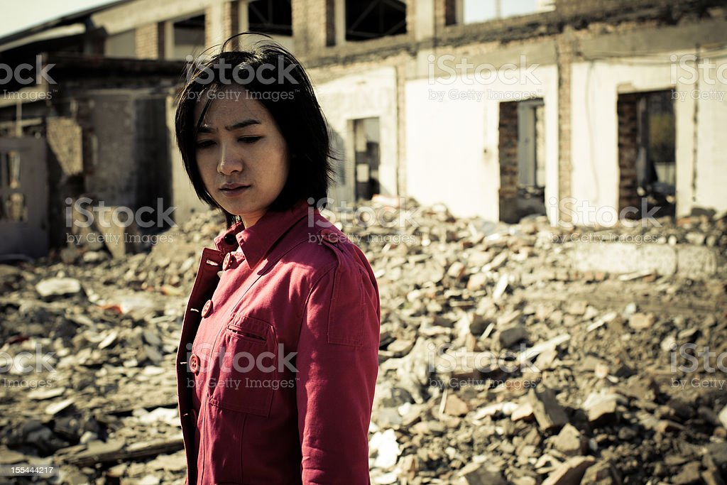 Homeless Girl - XLarge stock photo