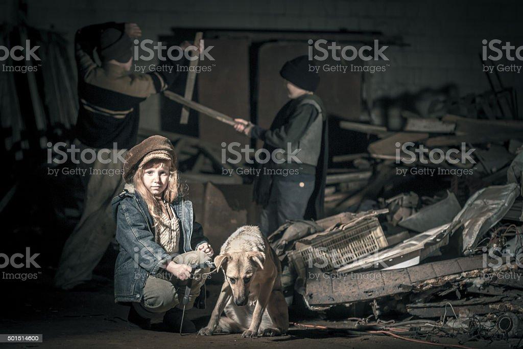 Homeless Сhildren stock photo