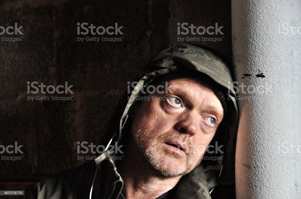 Homeless hope stock photo