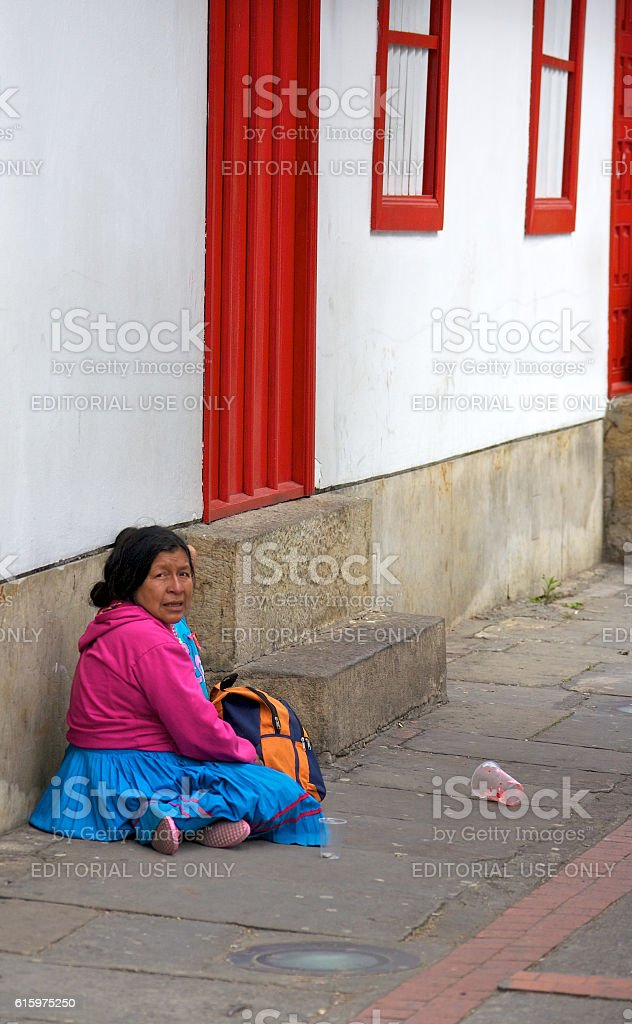 Homeless in Colombia stock photo