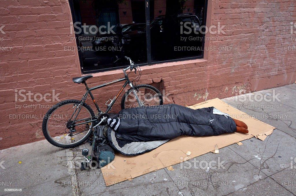 Homeless in San Francisco California stock photo