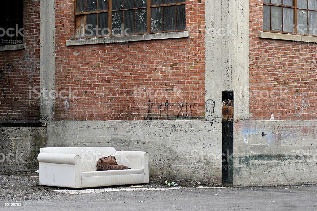 homeless living room royalty-free stock photo