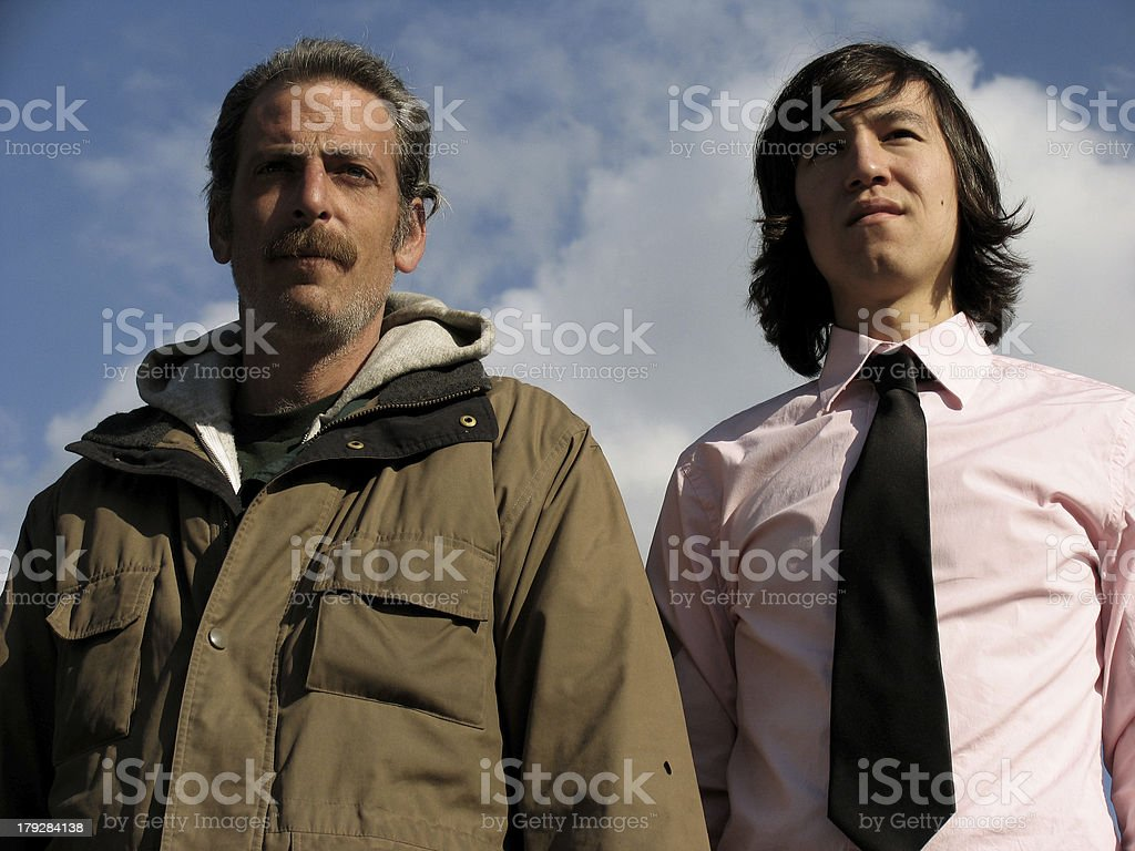 Homeless Male with Business Man royalty-free stock photo