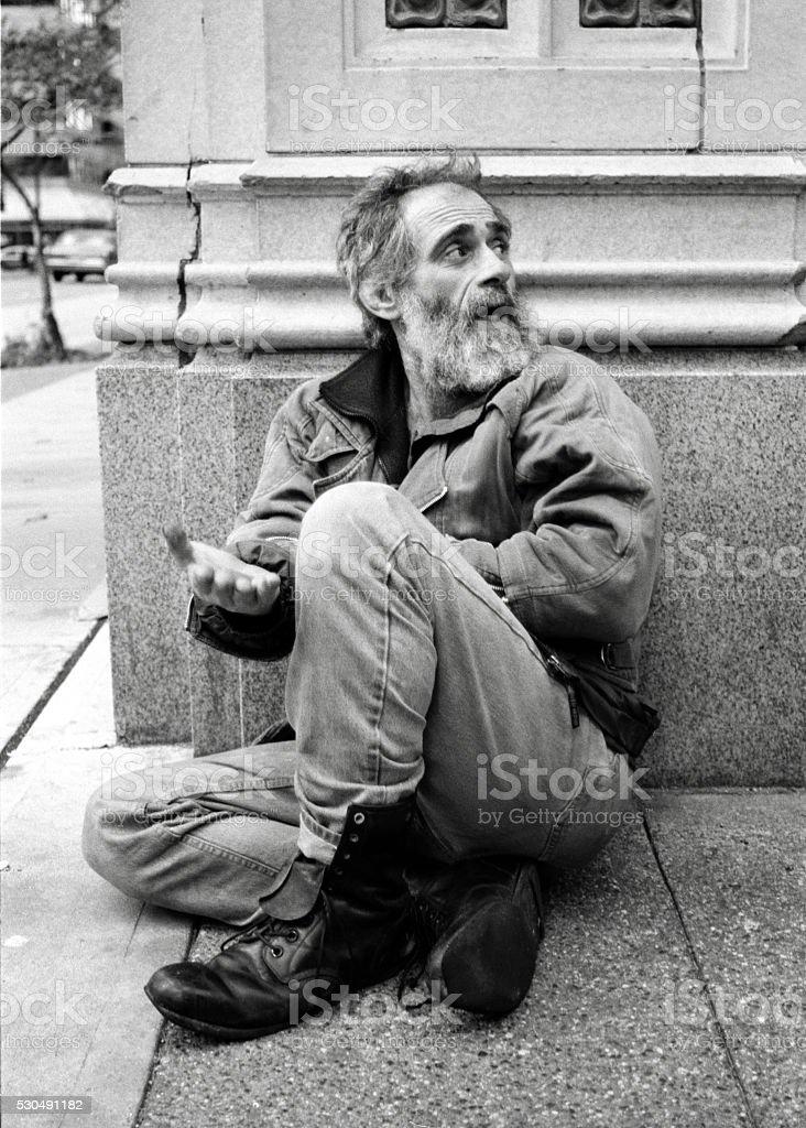 Homeless Man stock photo