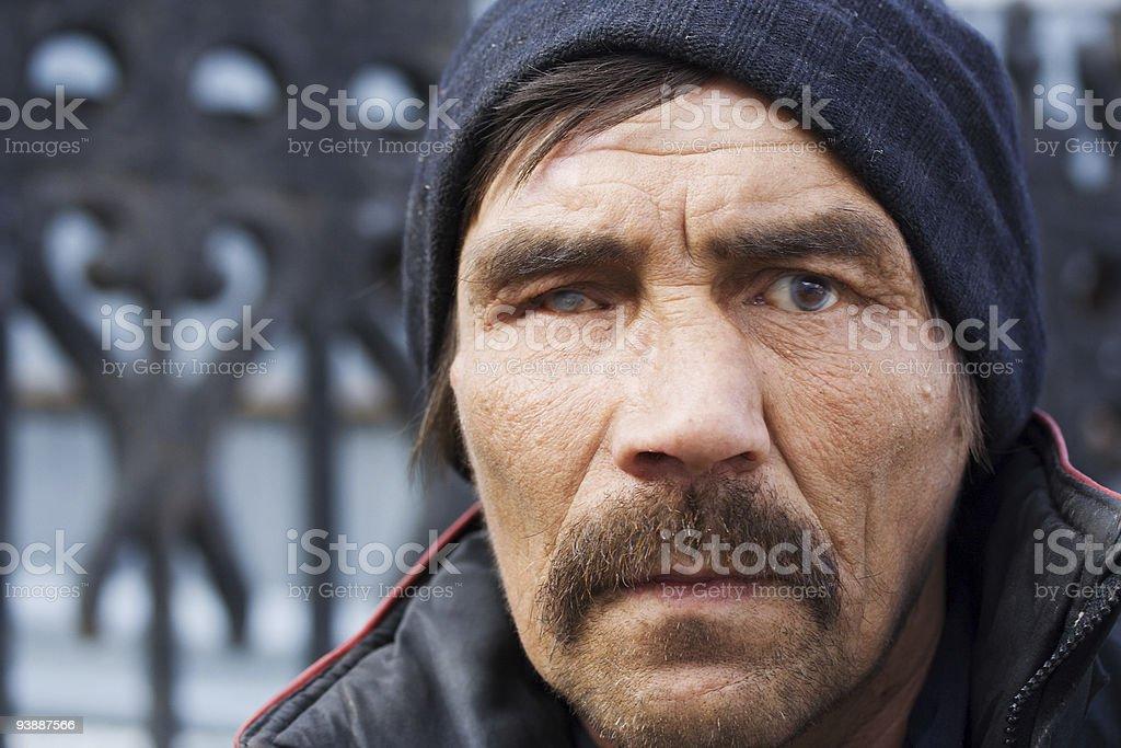 Homeless man. royalty-free stock photo