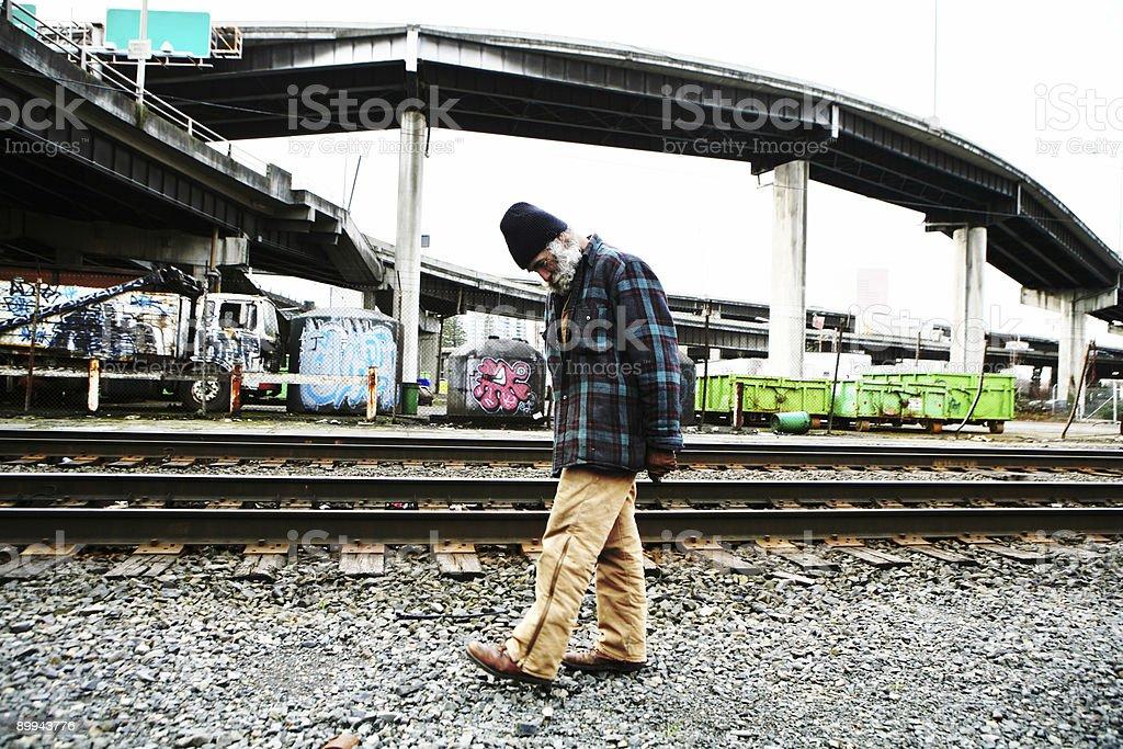 Homeless Man Wandering. royalty-free stock photo