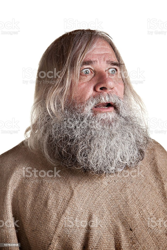 Homeless Man's Portrait royalty-free stock photo