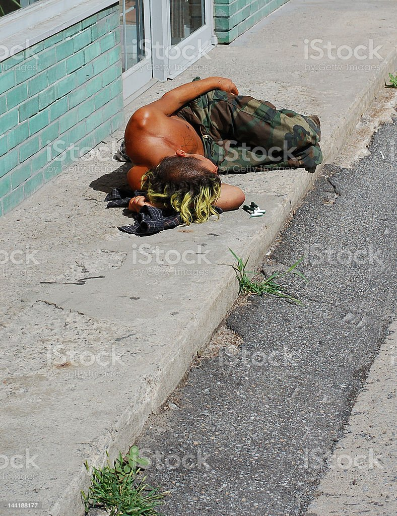 Homeless men in Canada. royalty-free stock photo