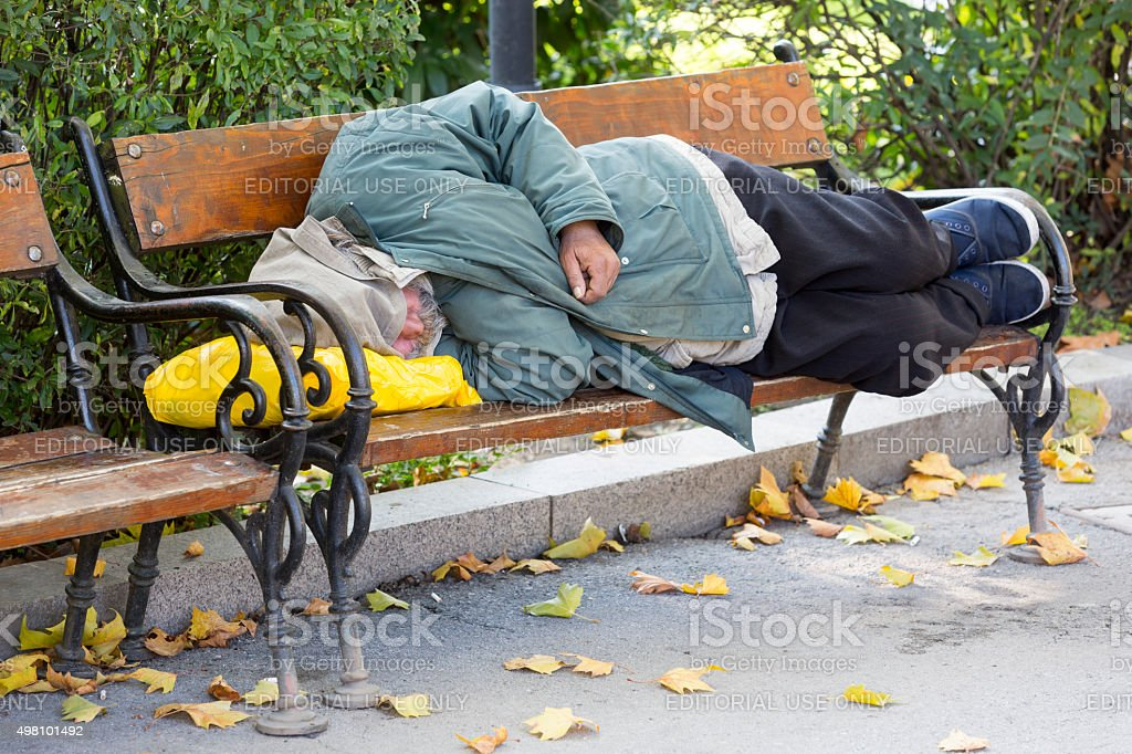 Homeless person stock photo
