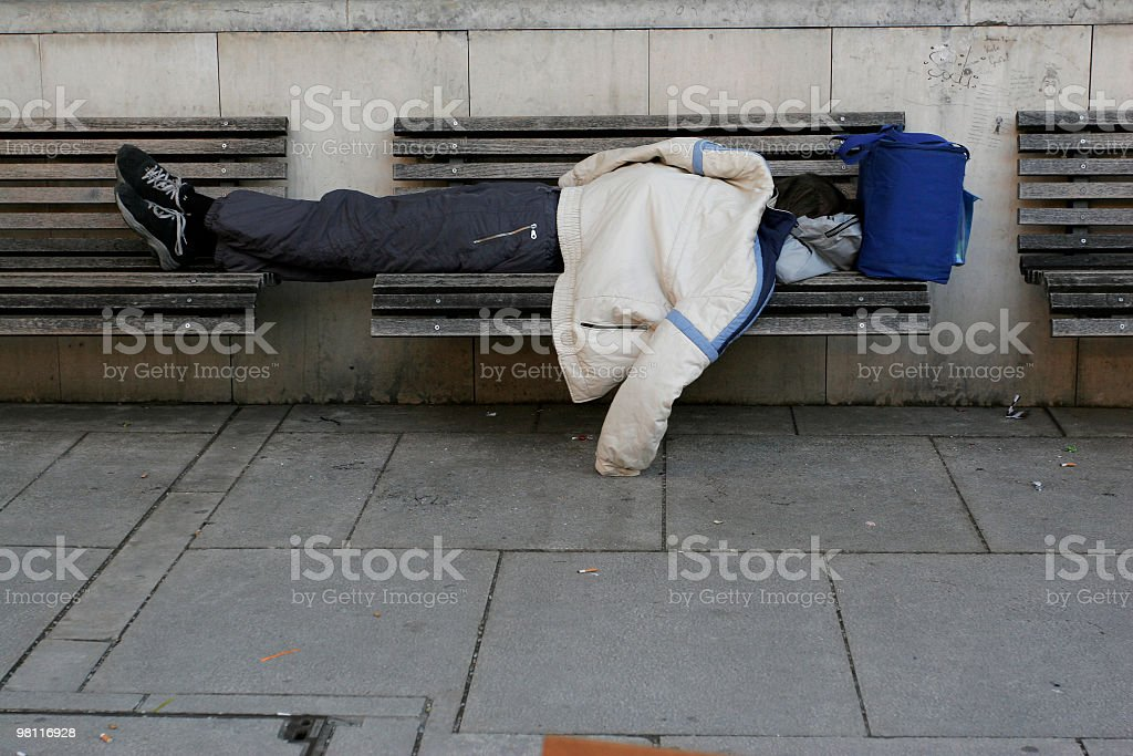 Homeless person royalty-free stock photo