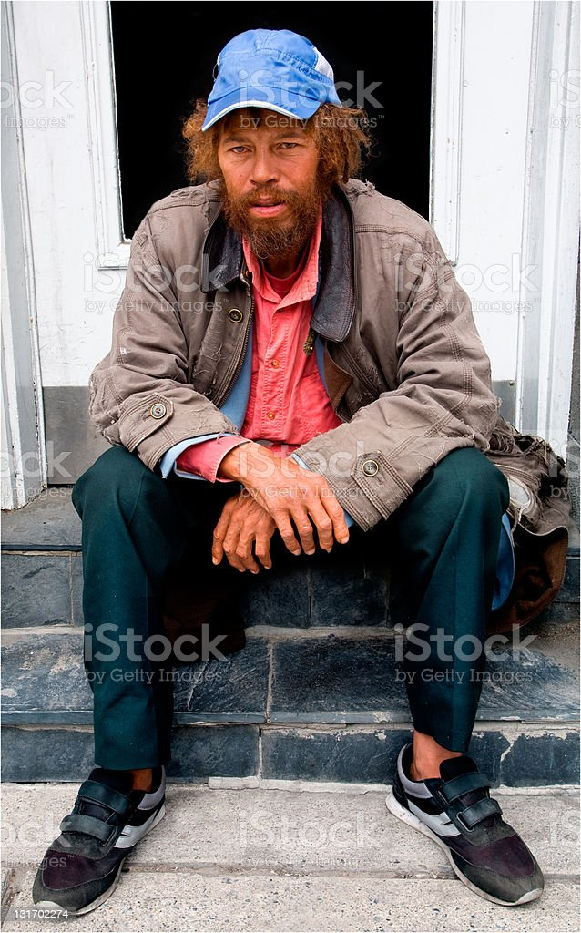 Homeless royalty-free stock photo