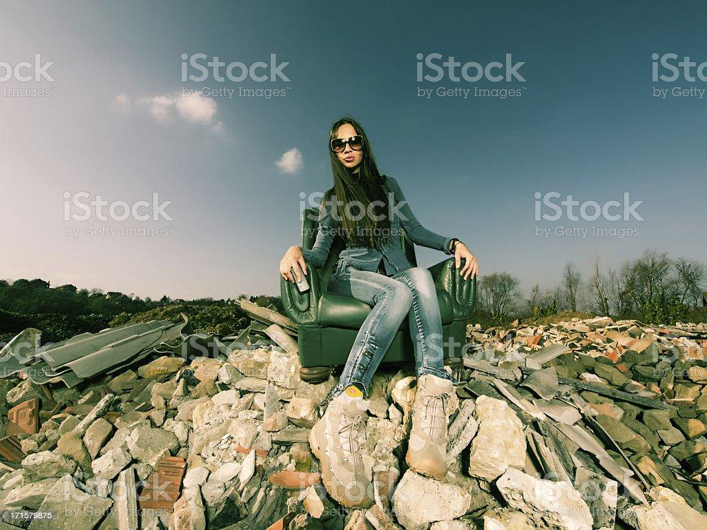 Homeless royalty-free stock photo
