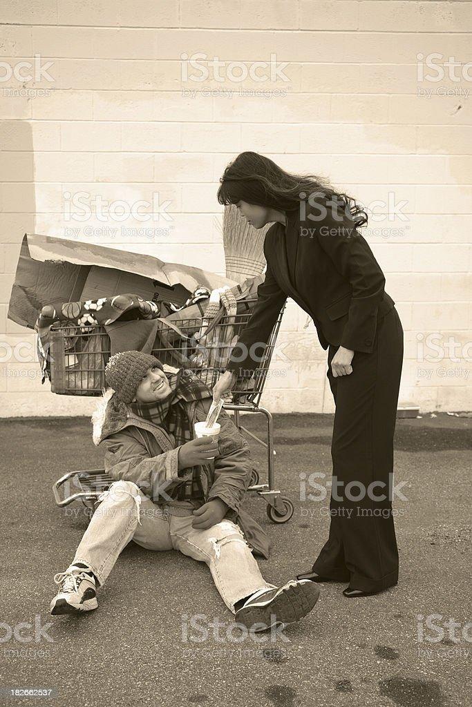 Homeless Series - Handout royalty-free stock photo