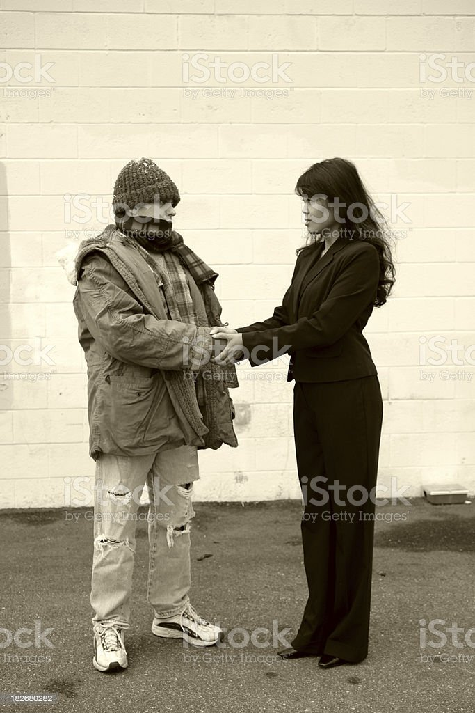 Homeless Series - Peace royalty-free stock photo