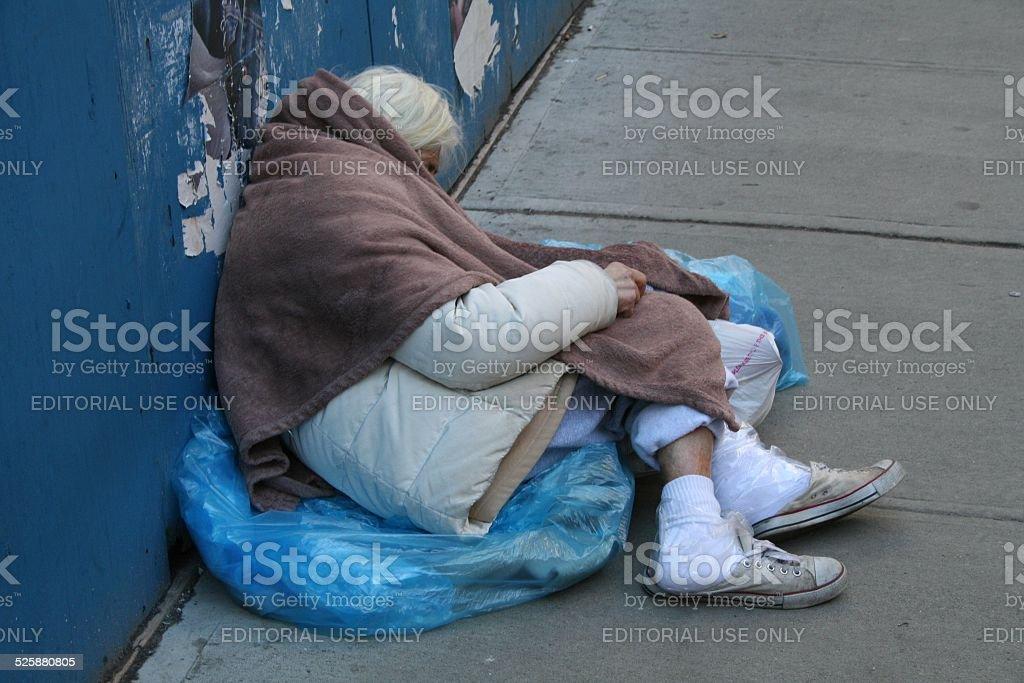 Homeless Woman stock photo