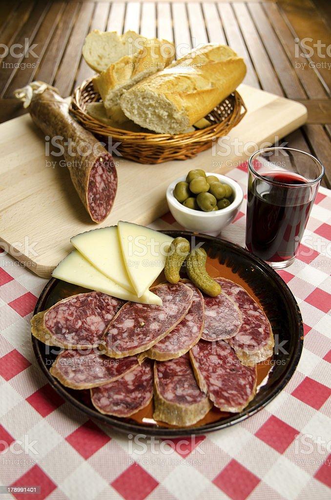 Homelike italian appetizer royalty-free stock photo