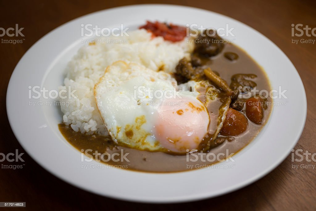 Homely Japanese curry stock photo