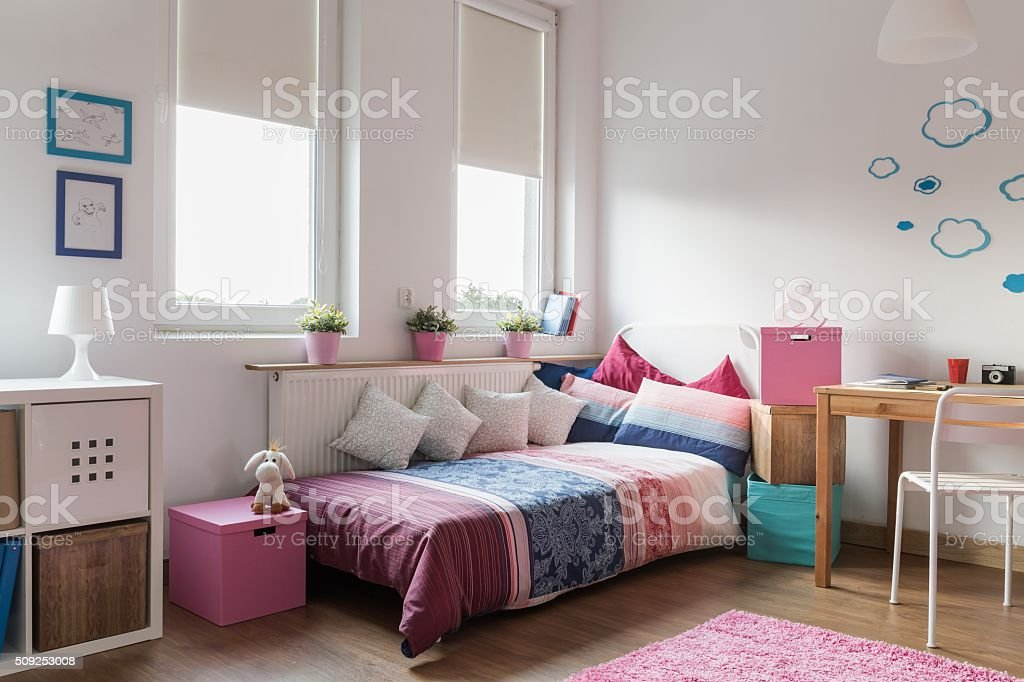 Homely modern room for teenager stock photo