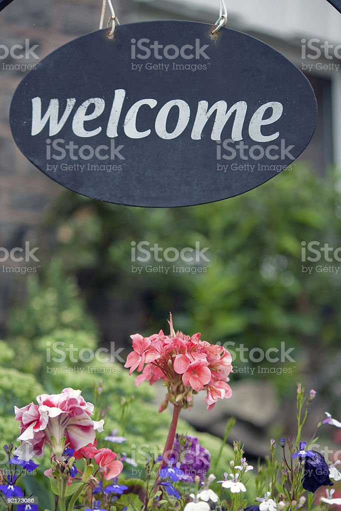 Homely welcome sign royalty-free stock photo