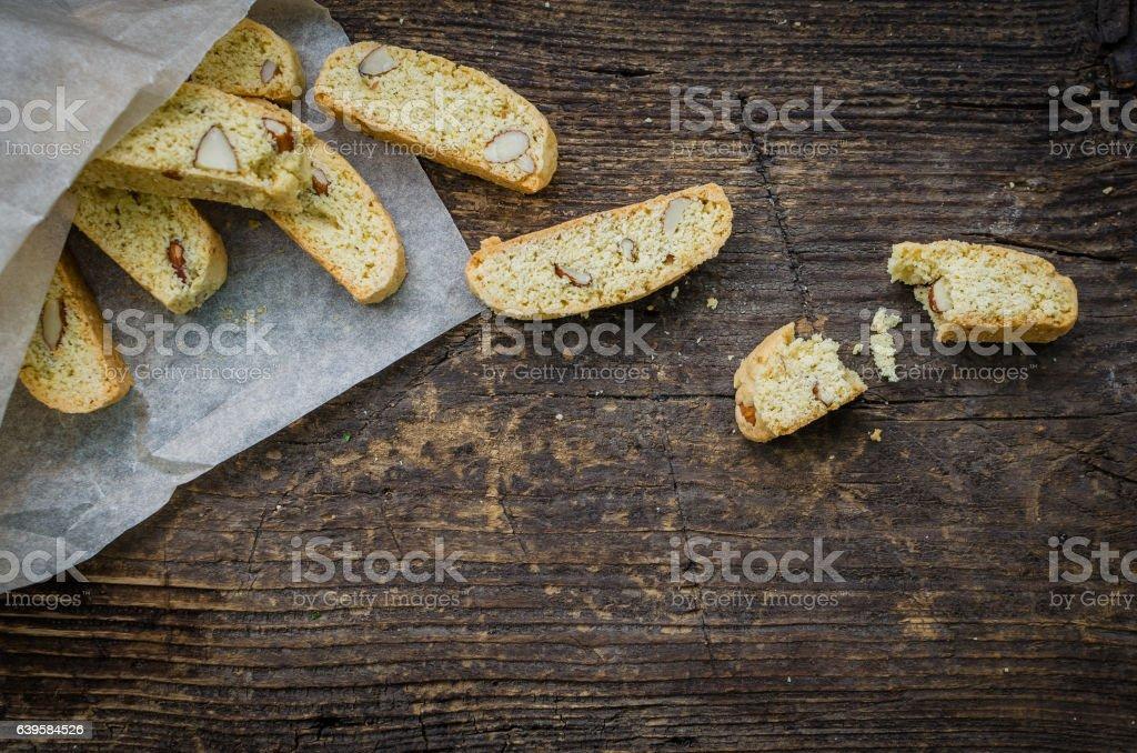 Homemade Almond cookies stock photo