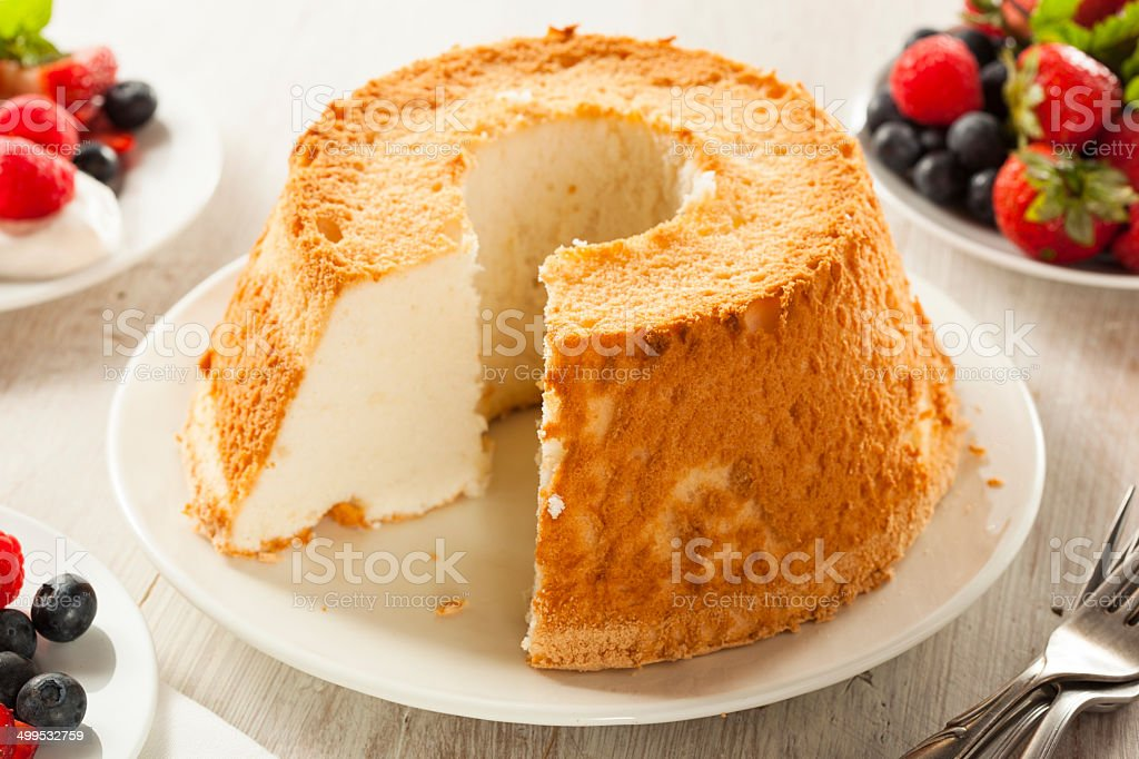 Homemade Angel Food Cake stock photo
