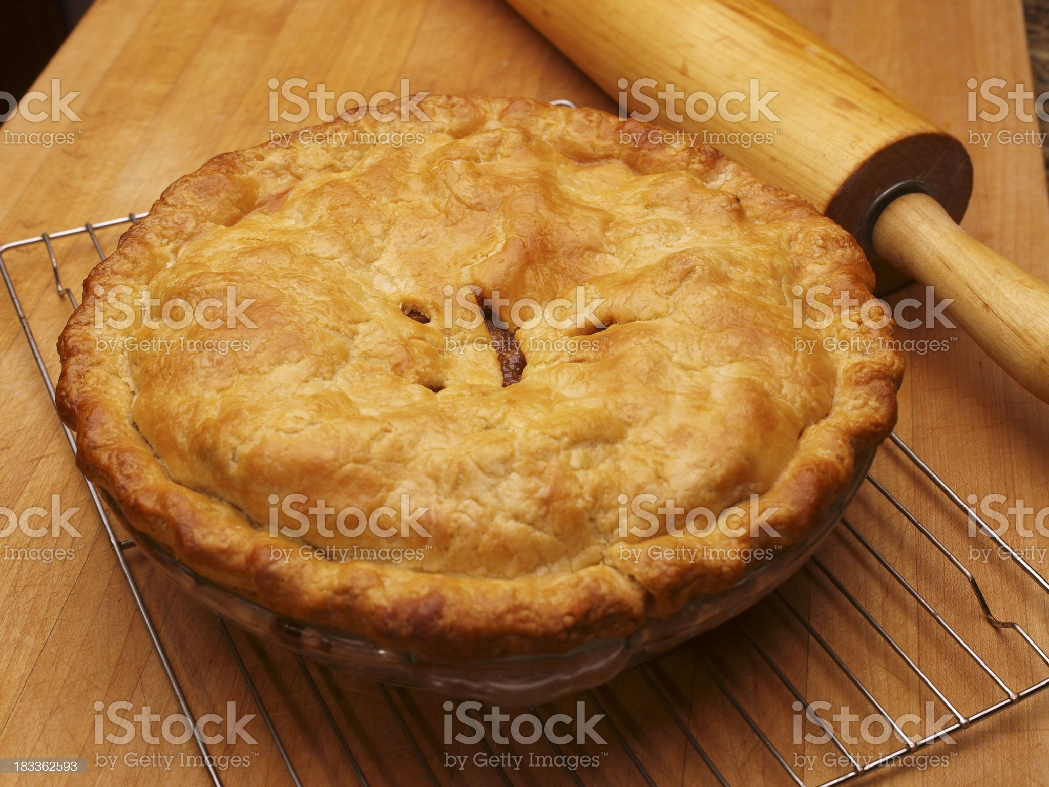 Homemade Apple Pie royalty-free stock photo