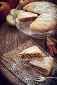 Homemade Apple tart with cinnamon and copy space