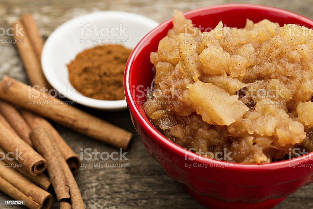 Homemade Applesauce stock photo
