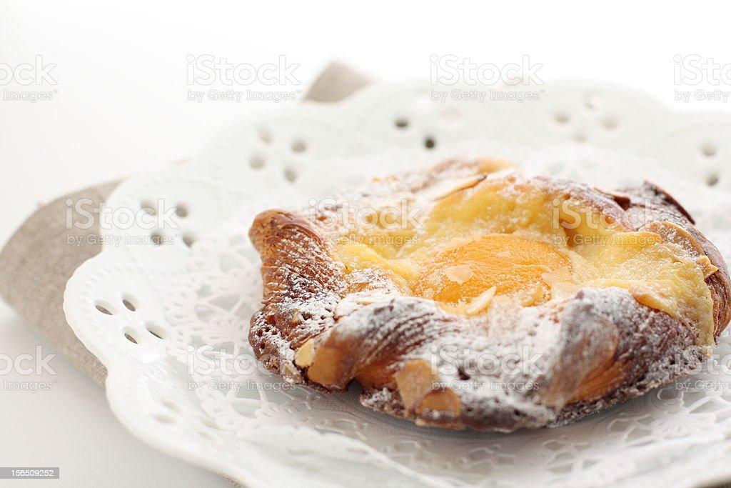 Homemade apricot Danish Pastry royalty-free stock photo
