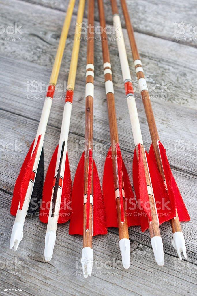 Homemade arrows royalty-free stock photo