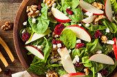 Homemade Autumn Apple Walnut Spinach Salad