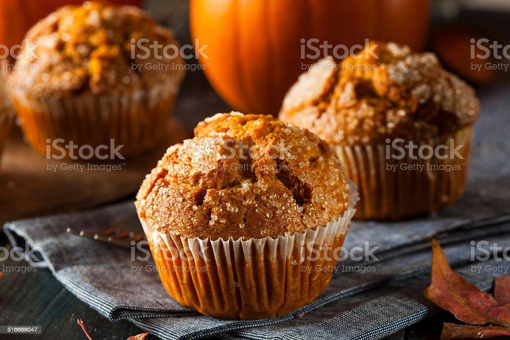 Homemade Autumn Pumpkin Muffin stock photo