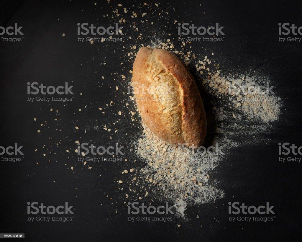 Homemade baked bread stock photo
