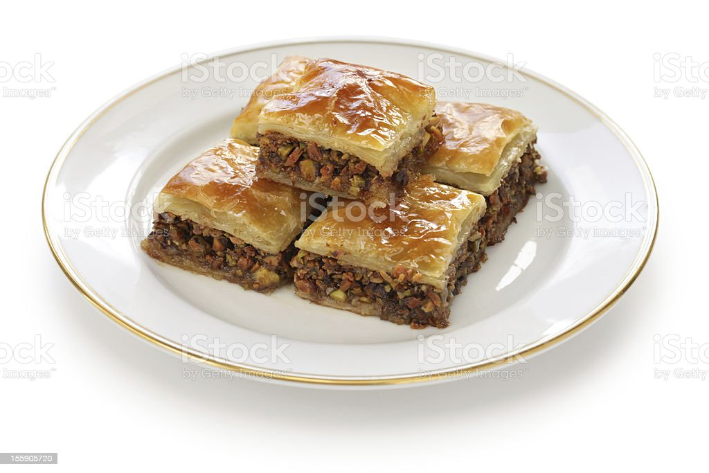 homemade baklava royalty-free stock photo
