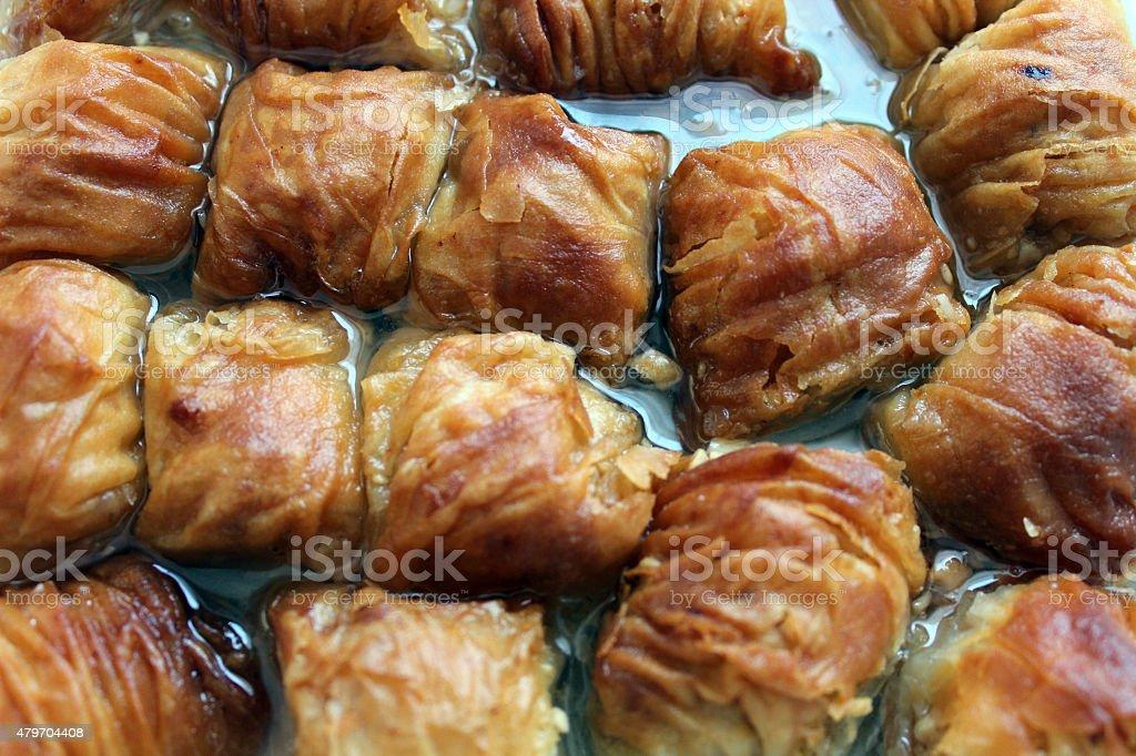 Homemade Baklava stock photo