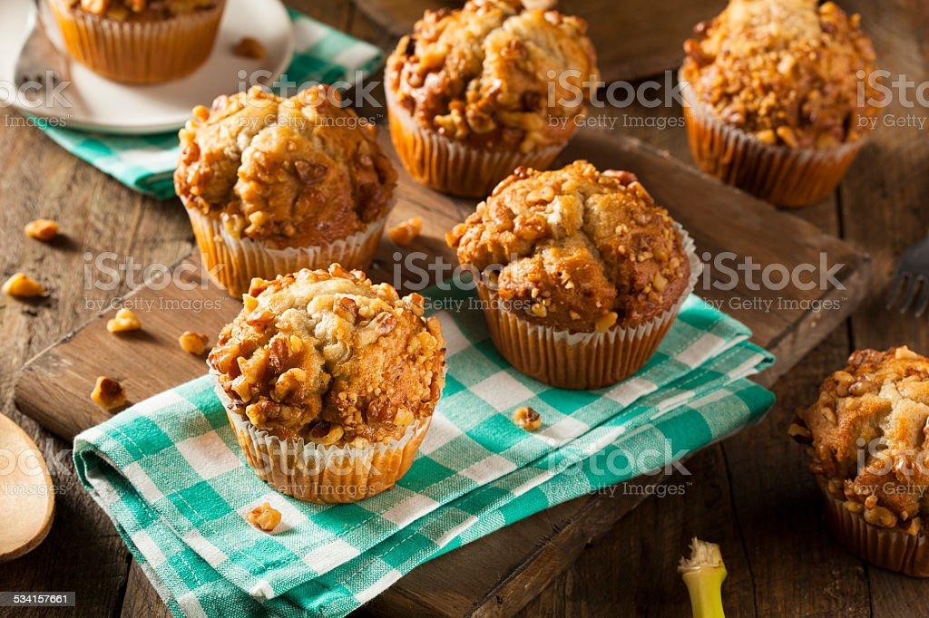 Homemade Banana Nut Muffins stock photo
