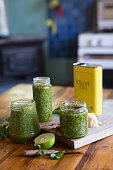Homemade Basil and Coriander Pesto