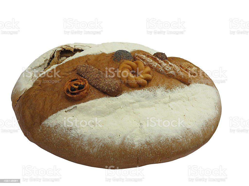 Feito em Casa beatifull isolado decorado Pão inteiro foto de stock royalty-free