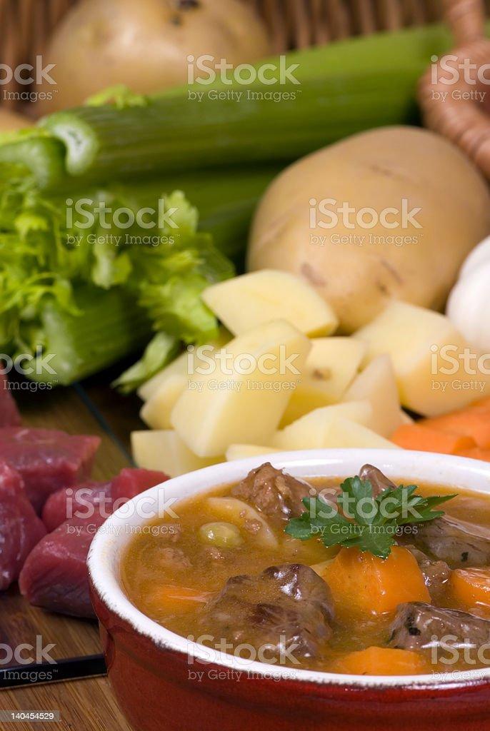Homemade Beef Stew 001 stock photo