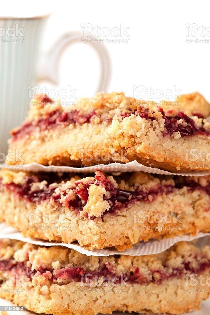 Homemade berry pie. stock photo