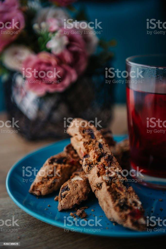 Homemade Biscotti stock photo
