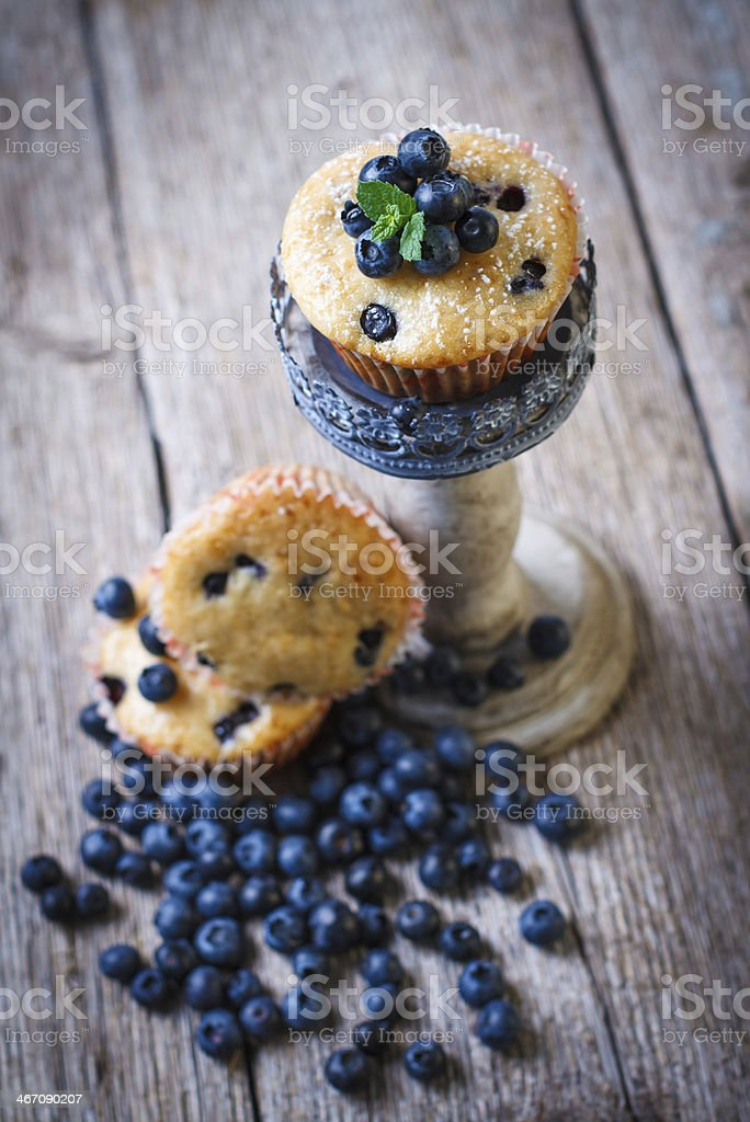 Homemade blueberry muffins royalty-free stock photo