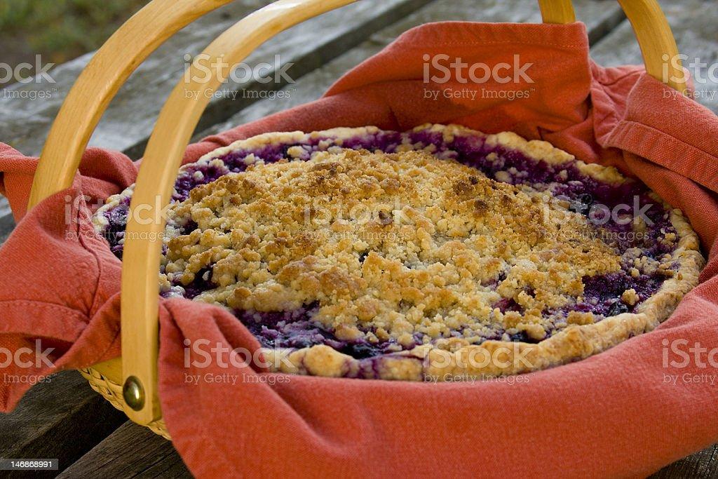 Homemade Blueberry Pie royalty-free stock photo
